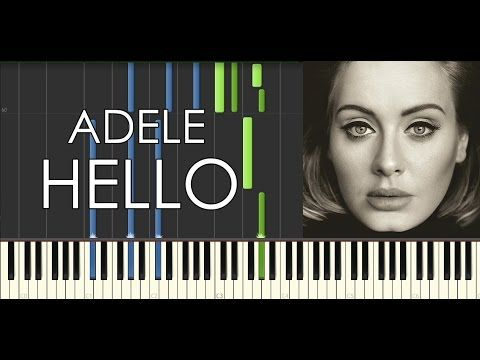 Adele Hello Piano Tutorial Midi Available Youtube With