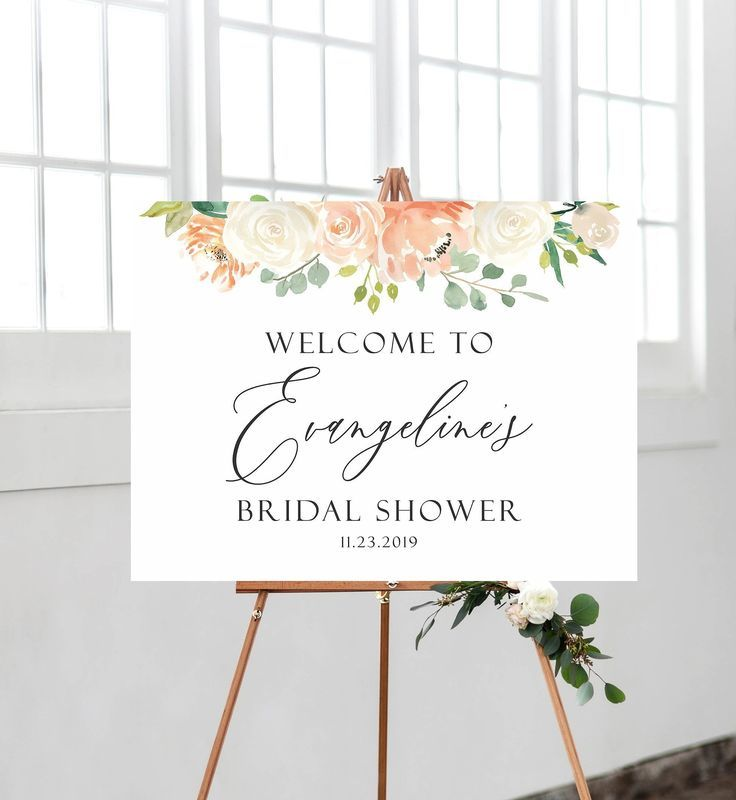 Floral Bridal Shower Welcome Sign Bridal Shower sign Bridal | Etsy