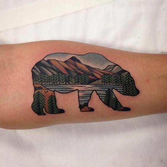 Bear Nature Nature Nature Nature Design San Diego Tattoo Ideas Bear