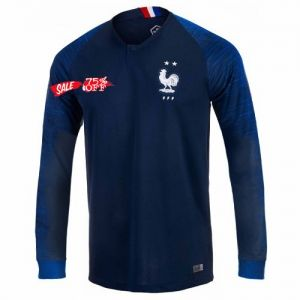 2018 Cheap World Cup Jersey France 2 Stars LS Home Replica Soccer Shirt   CFC909  253909268