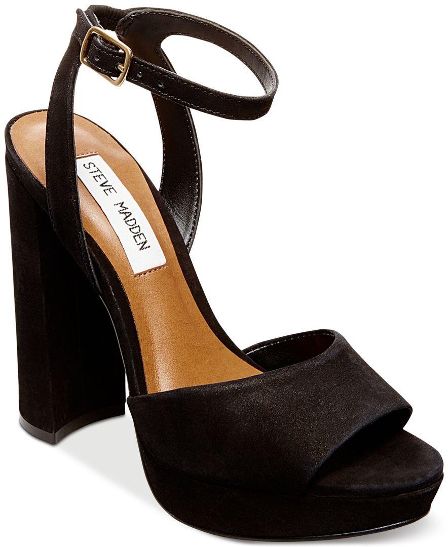 7a0868159172 Steve Madden Women s Britt Platform Sandals Platform Block Heels