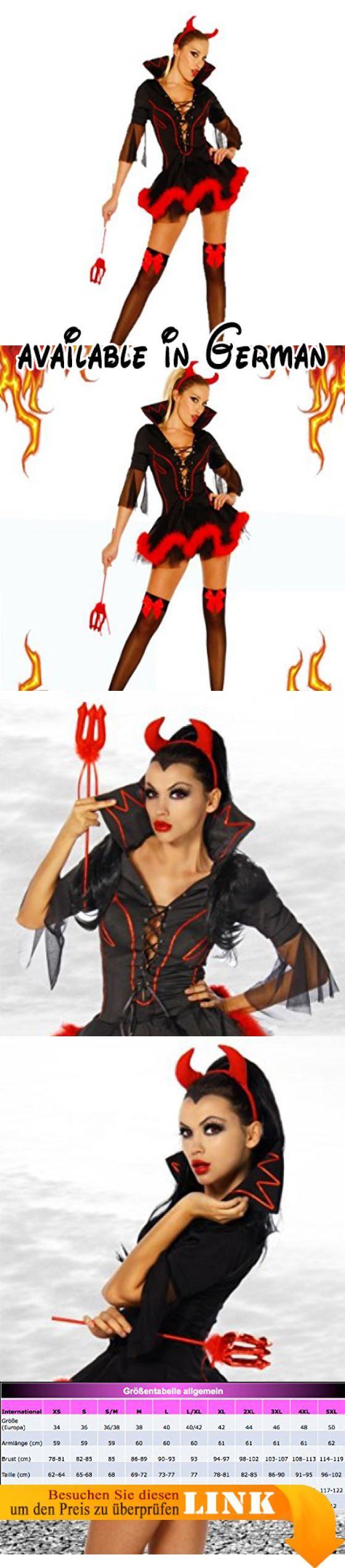 Yourdesignerz Teufels-Kostüm Damen schwarz/rot S/M.  #Apparel #DRESS