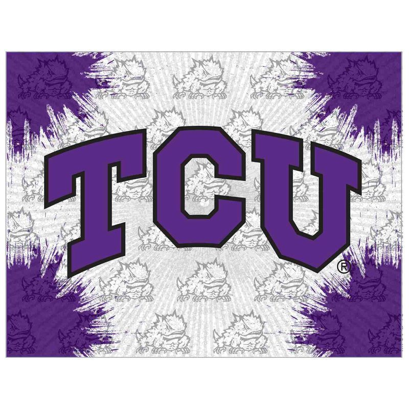 Tcu Horned Frogs 24 X 32 Printed Canvas Art Stretched Canvas Wall Art Canvas Wall Art Print Pictures
