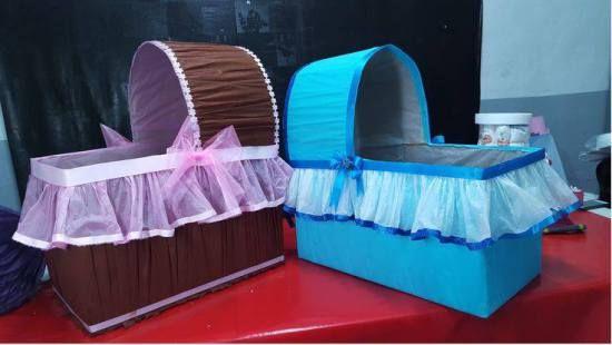 Cunitas De Carton Para Baby Shower Cunas De Carton Cunas Para