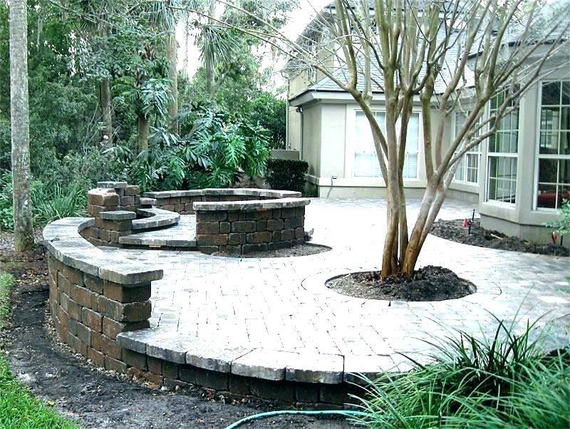 Square Paver Patio Backyard Patio Patio Pavers Design Brick Paver Patio