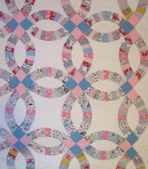 Double Wedding Ring Quilt - love this pattern | Food | Pinterest ... : wedding quilt block pattern - Adamdwight.com