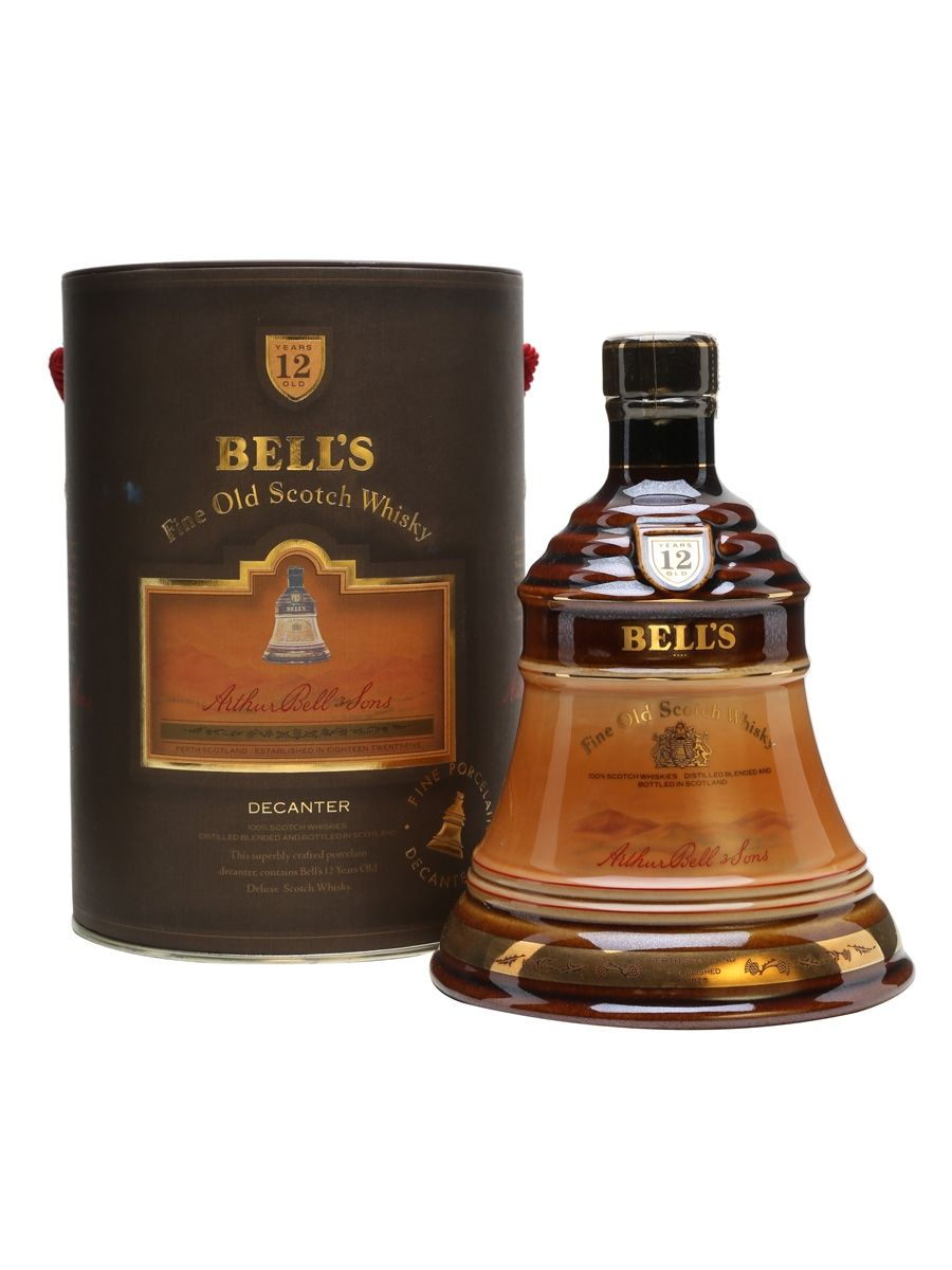 Bell S Dark Brown Decanter 12 Year Old Scotland Whisky Decanter Liquor Bottles Whisky