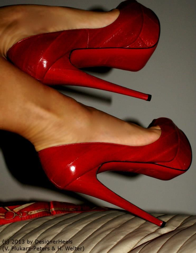 cc85e628252 I have always said every woman should own a great pair of red high ...