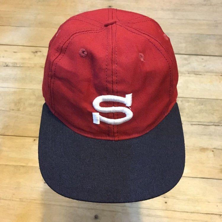 Vintage 90s Stussy S Logo Cap Etsy Black And Red Stussy S Logos