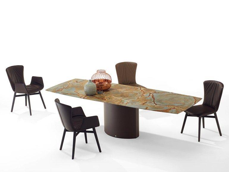 Charmant Extending Rectangular Natural Stone Dining Table ADLER II | Natural Stone  Table   Draenert