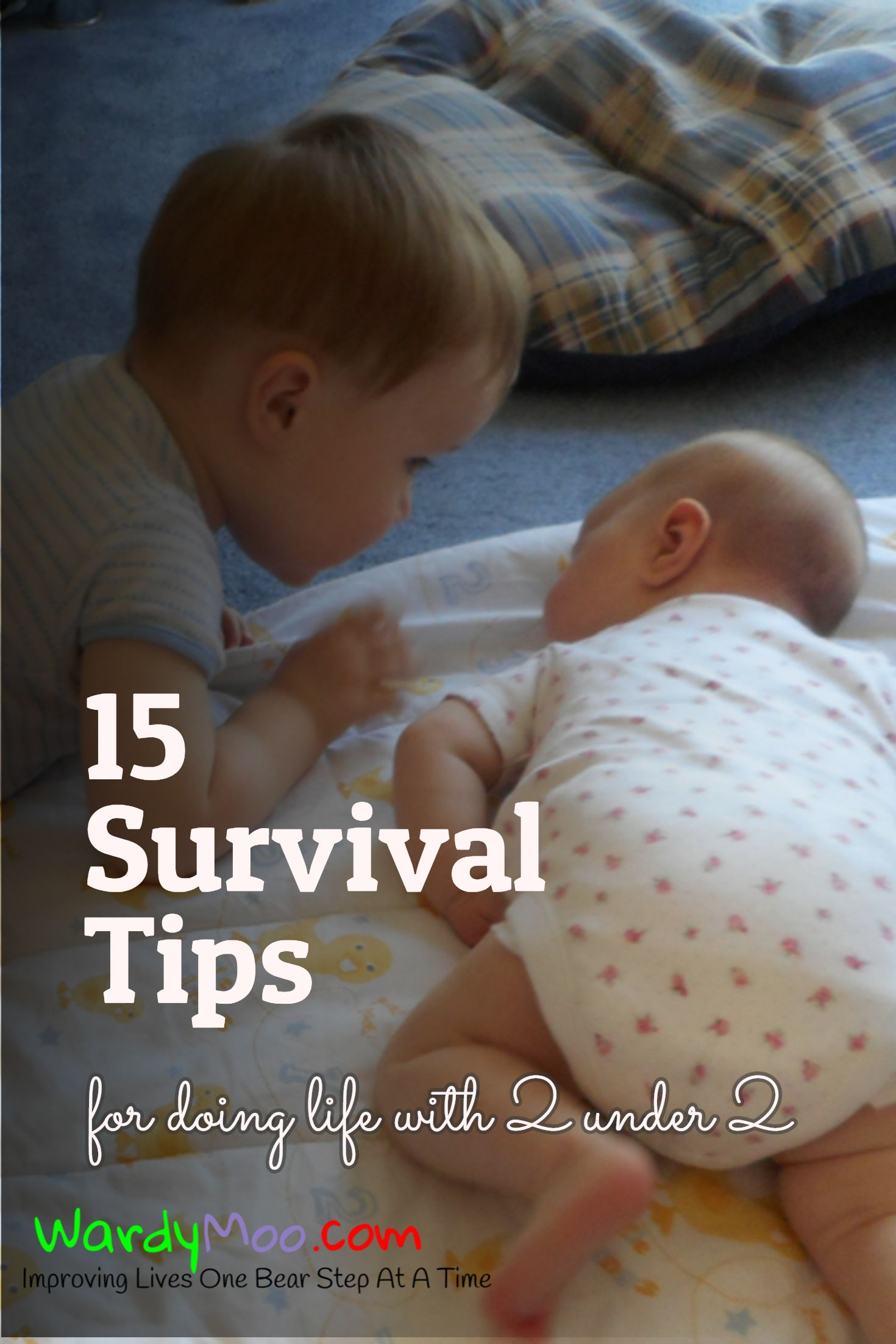 15 Survival Tips for doing life with 2 under 2 One, two, three or even more children can be hard work. You can survive here are some of my tips so far with two children under two