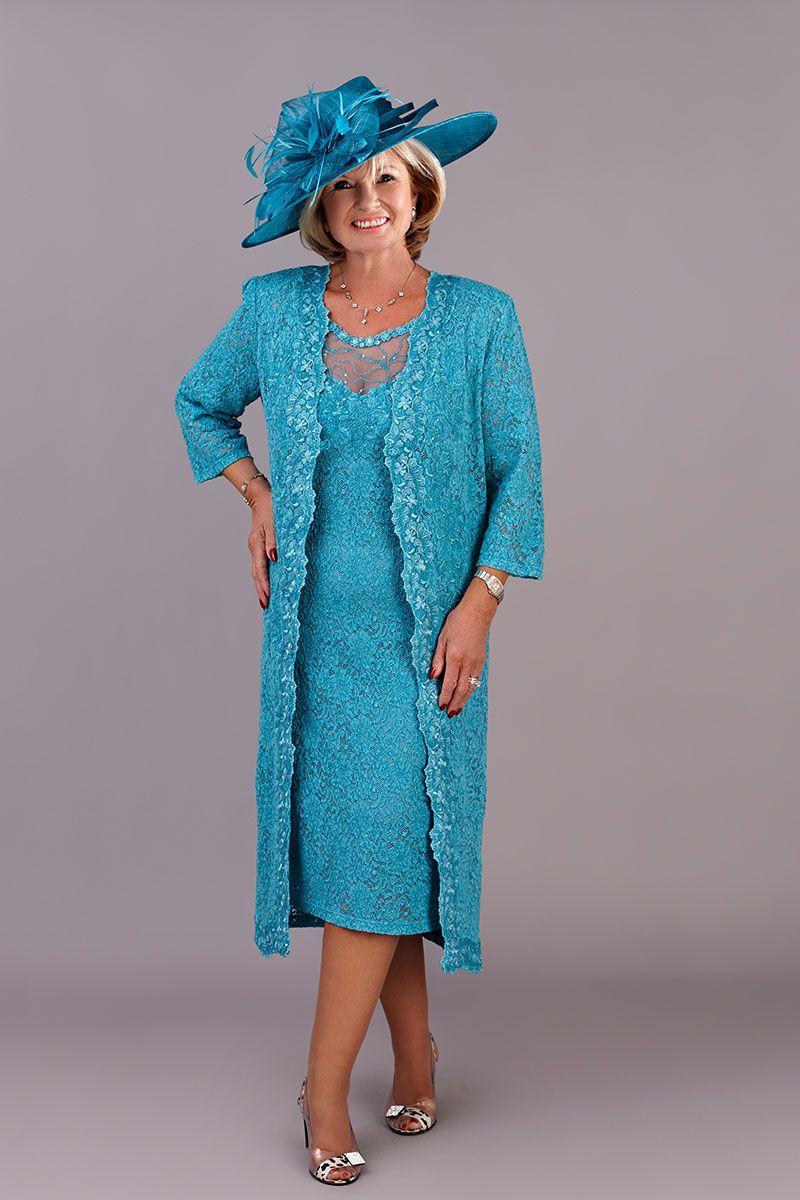 Ann Balon Annalisa short dress & jacket size medium | Turquoise ...