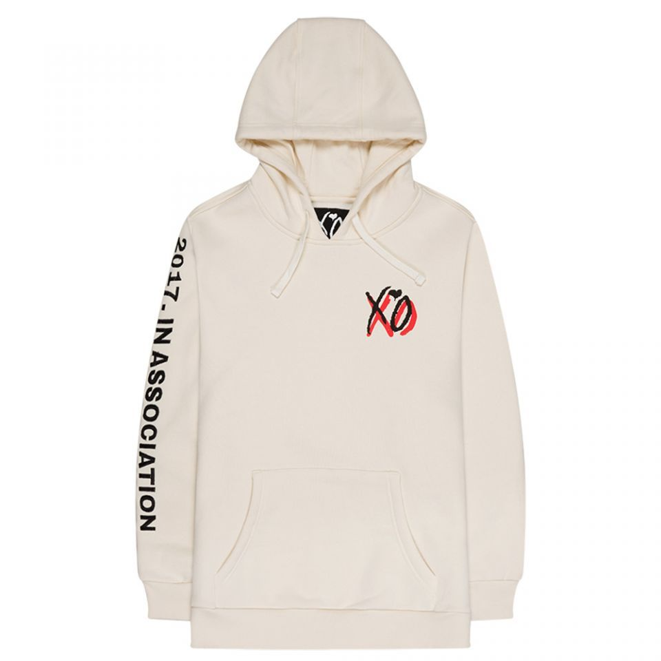 199X PULLOVER FLEECE HOOD DESIGNED BY XO. CREAM HEAVYWEIGHT COTTON ...