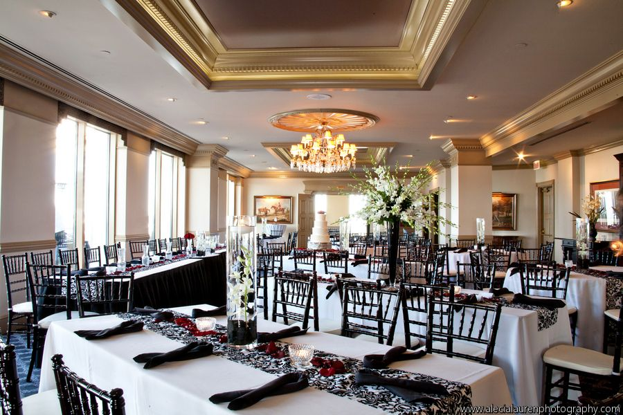 Wedding at the Peachtree Club featuring black