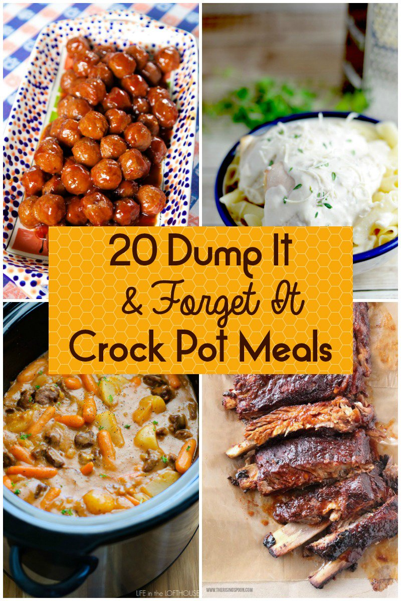 Photo of 20 Dump It and Forget It Crock Pot Meals