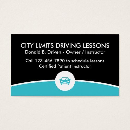 Driving Lessons Business Card Zazzle Com Business Card Design Cards Business
