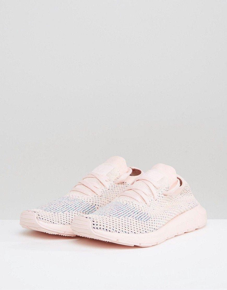a6dacac02de86 adidas Originals Swift Run Primeknit Sneakers In Pale Pink - Pink ...