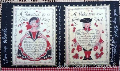 Colonial sweethearts--From my Valentine Moleskine journal...