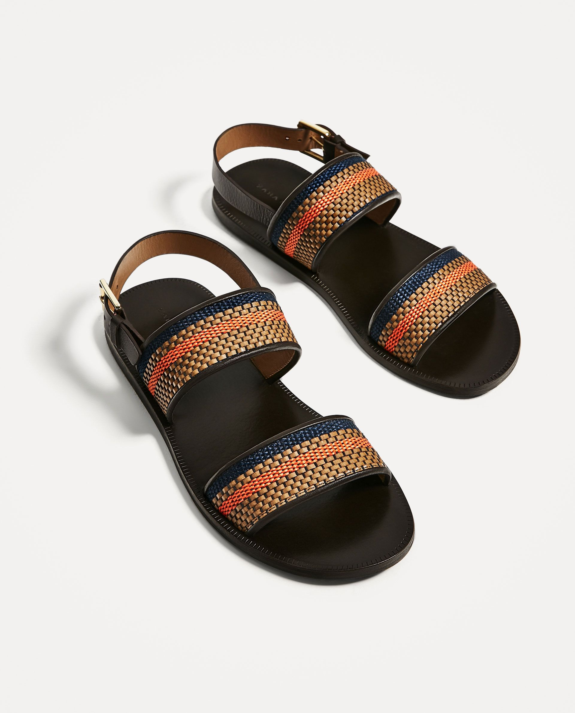 751220bd499fa3 ZARA - MAN - LEATHER SANDALS WITH BROWN AND ORANGE STRAPS