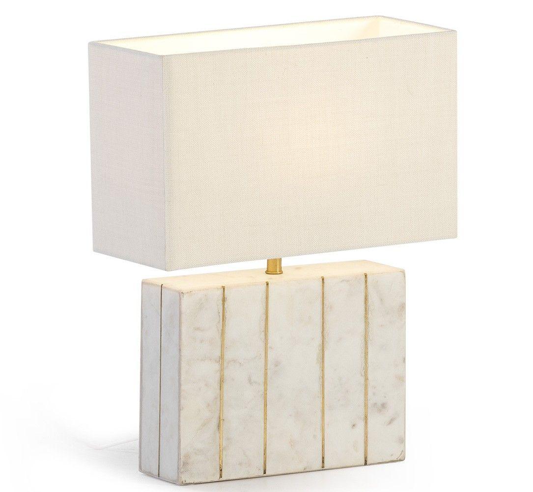 Thai Mobilier Lampe De Table Abat Jour Blanc Et Pied Metal Dore Tira H 51 Lestendances Fr En 2020 Abat Jour Abat Jour Blanc Lampe De Table Blanche