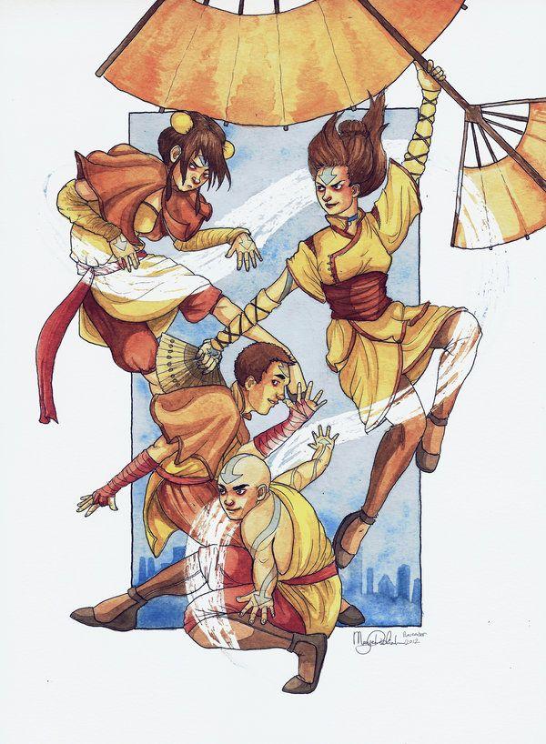 Tenzin's kids by ~Mariey on deviantART so adorable