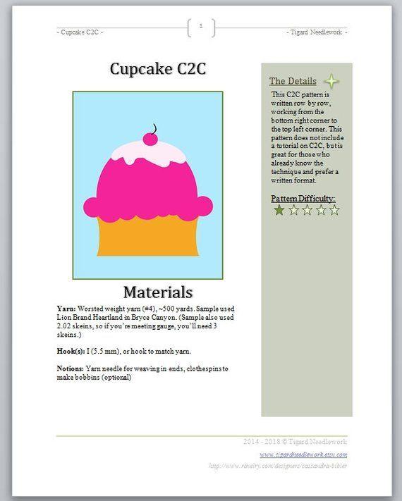 Crochet Blanket pattern, graphgan, written c2c pattern
