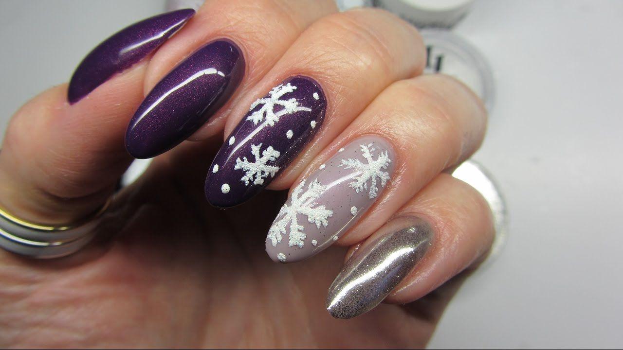 Sniezynkowe Paznokcie I Efekt Lustra Victoria Vynn Snowflakes