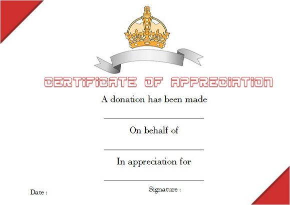Donation Thank You Certificate Template Donation Certificate - best of donation certificate template