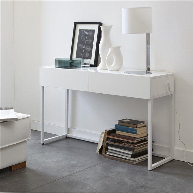 console bureau 2 tailles newark la redoute interieurs. Black Bedroom Furniture Sets. Home Design Ideas