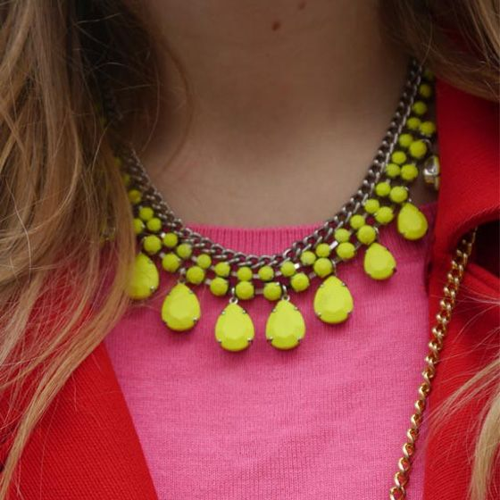 Street Style: Neon Pops/ Jewelry Street Style Adorn London Jewelry Trends blog