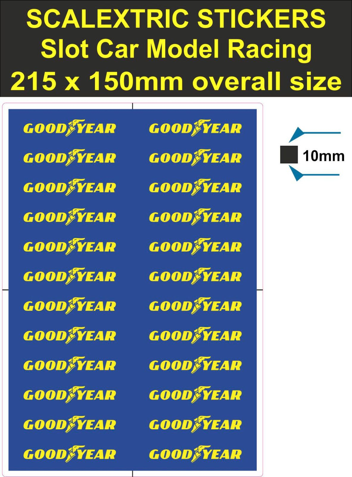 Slot Car Scalextric Sticker Model Race Goodyear Logo Lego Decal Adhesive Vinyl T Slot Cars Slot Car Tracks Car Decals [ 1600 x 1182 Pixel ]