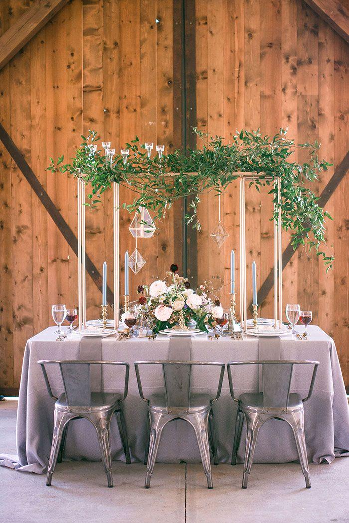 A Barn Wedding Blending Modern Glam And Rustic Elegance Reception
