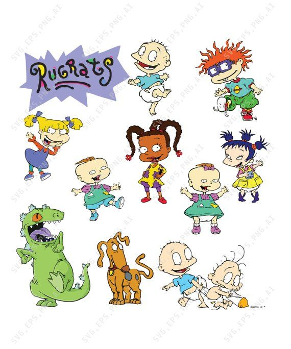 Rugrats SVG Collection -SVG Files for Silhouette Cameo or