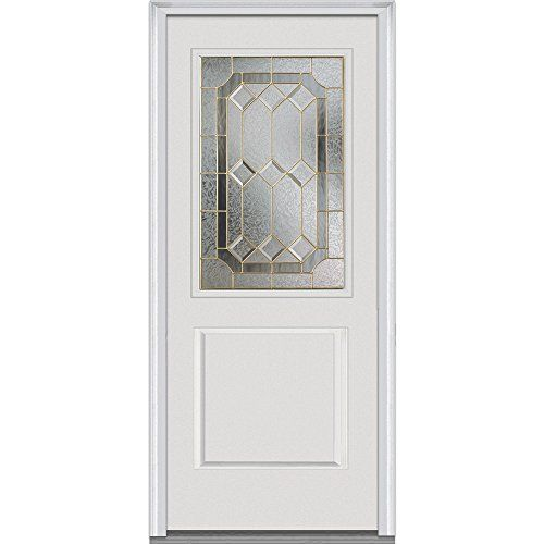 Ordinaire National Door Company Z001280R Fiberglass Smooth Prehung Right Hand Inswing  Entry Door, Majestic Elegance Decorative