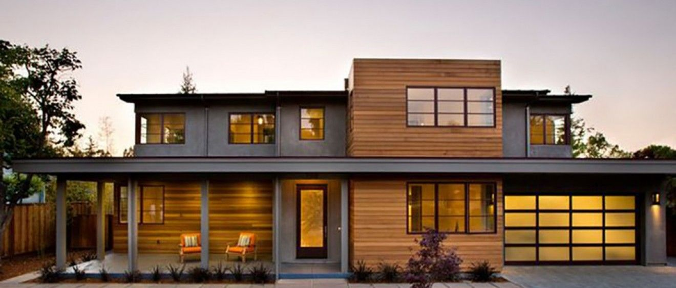 Considering Cedar Siding For Your Modern Home If So It Is Important To Understand The Difference Bet Prairie Style Houses Modern Exterior Modern House Design