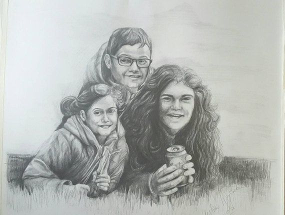 Check out this item in my Etsy shop https://www.etsy.com/uk/listing/514273715/pencil-portrait-from-photograph-tailored