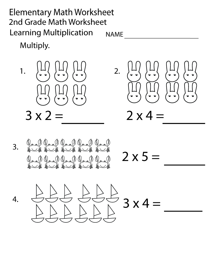 Math Multiplication Worksheets 2nd Grade Math Worksheets Printable Multiplication Worksheets 2nd Grade Worksheets