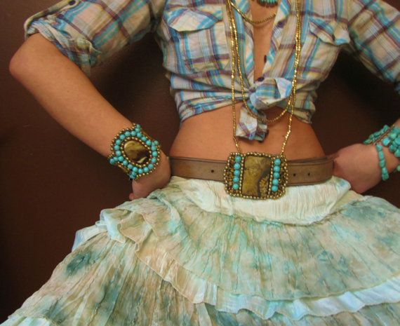 Love this belt buckle and the bracelets