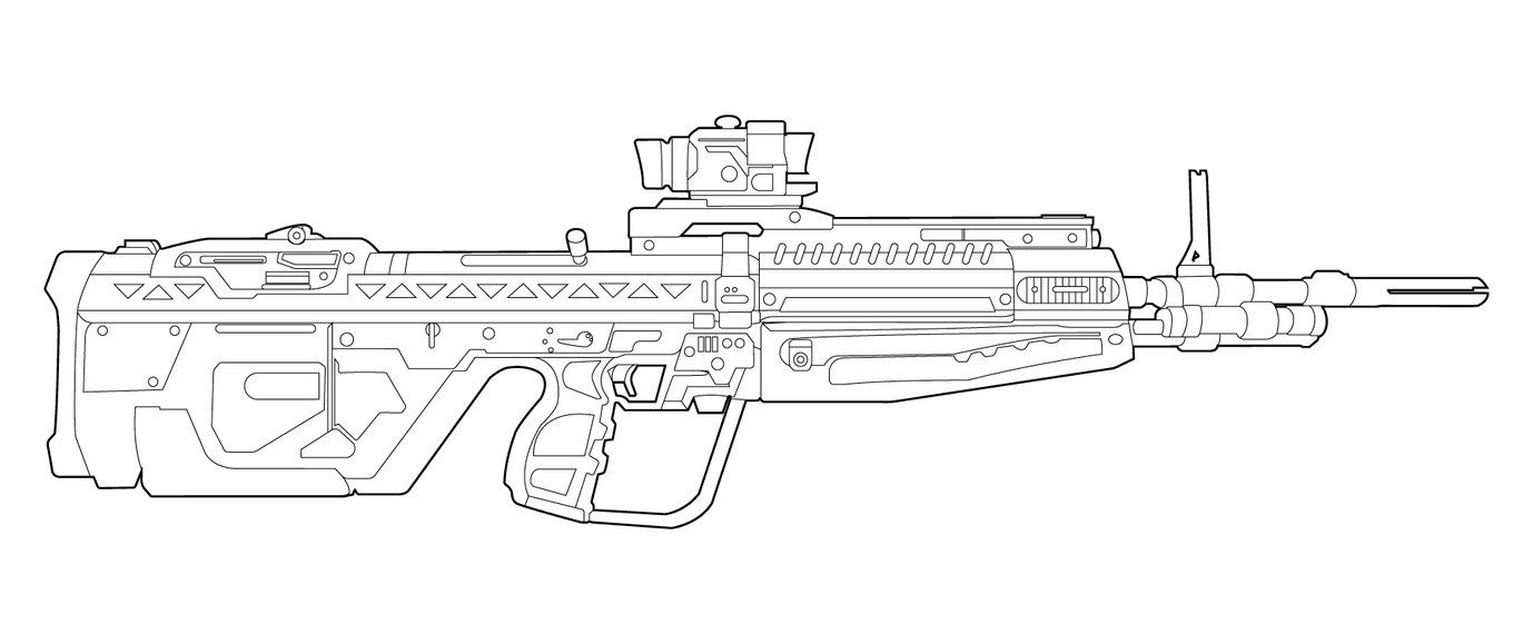 How To Draw Halo Guns  Google Search