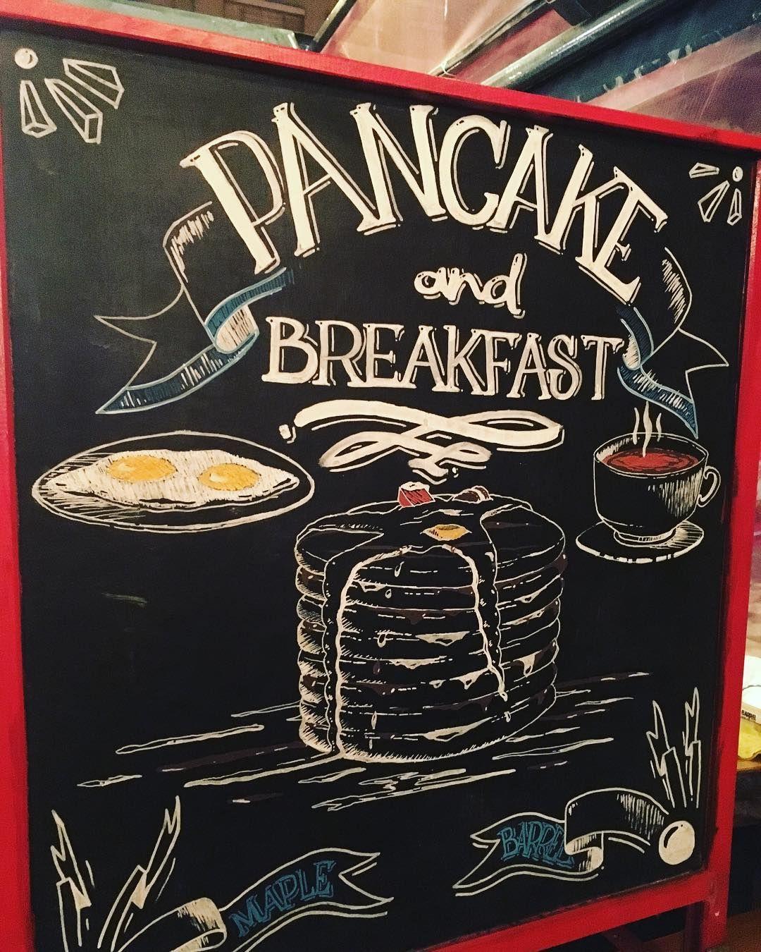 Maple Barrel Pancake Caf Kalam 2017 Blackboard Karatahta Kaligrafi Kadky Istanbul Kadkysokak Cafetasarim Cafedesign