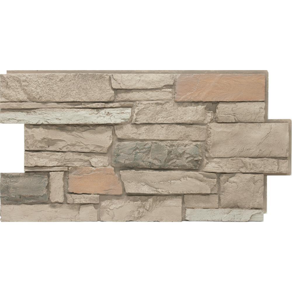 Urestone 24 In X 48 In Ledgestone Desert Oasis Stone Veneer Panel Ul2610 105 The Home Depot In 2020 Stone Veneer Panels Stone Veneer Veneer Panels