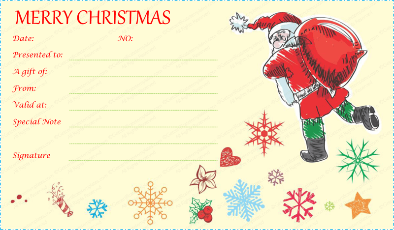 Festive Decorating Christmas Gift Certificate Template #christmas  #merrychristmasgift #giftcard #merry #chirstmas #gift #certificate |  Pinterest | Gift ...  Christmas Voucher Template