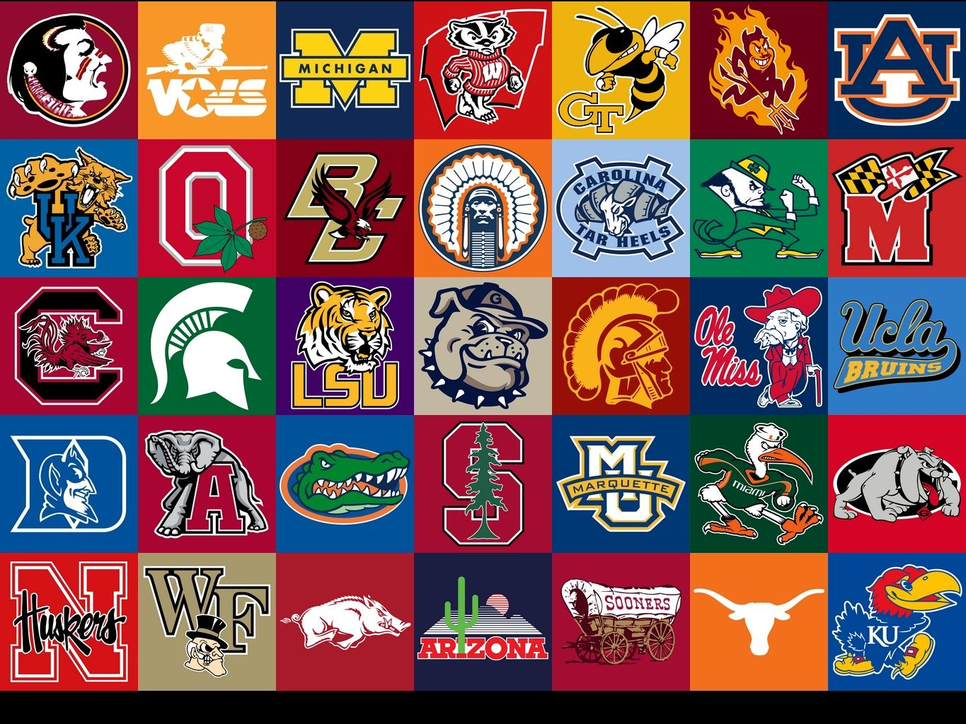 National Collegiate Athletic Association College Football Logos College Football Teams Football Wallpaper