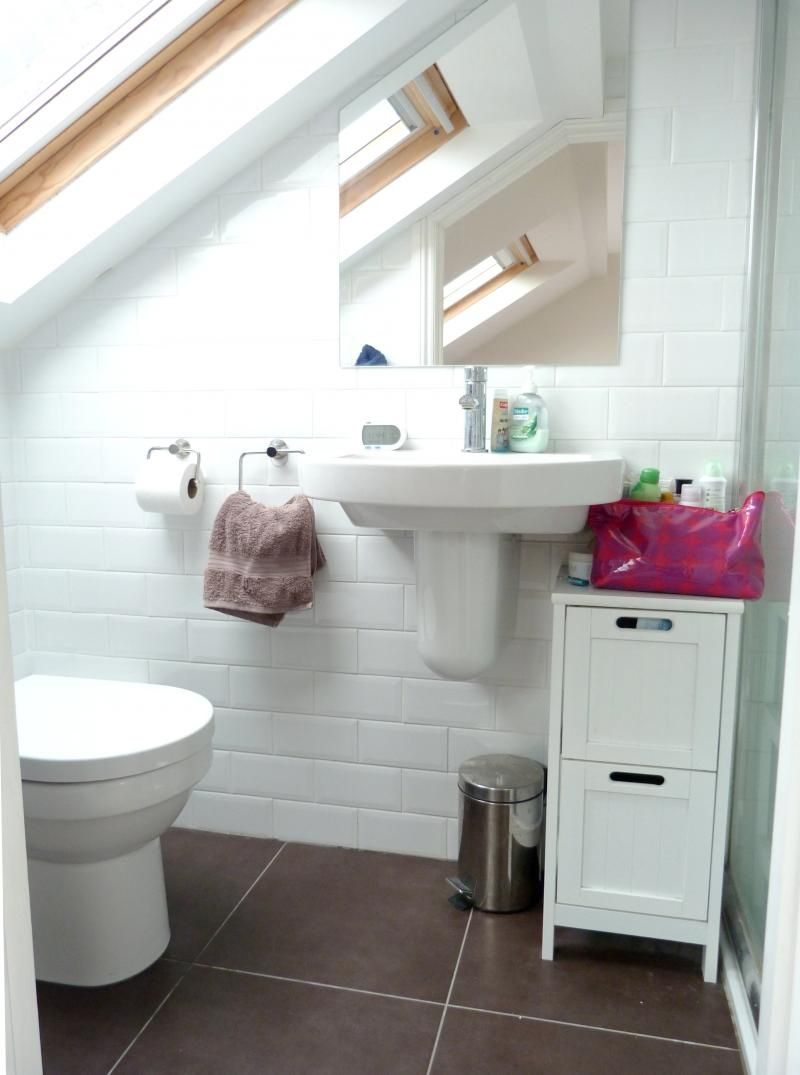 Loft bedroom ideas with ensuite  Pretty loo for under the eaves Bright with plenty of light  Loft