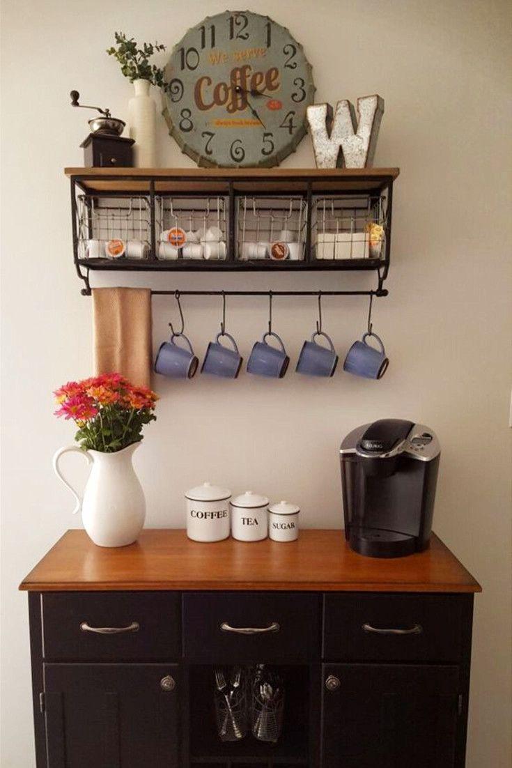 Small Coffee Bar Shelves