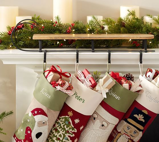 Mantle Sleigh Stocking Holder C\u0027est Noel Pinterest Mantle