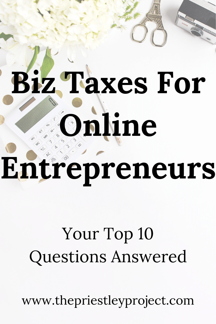 Have Burning Tax Questions As They Apply To Your Online Business