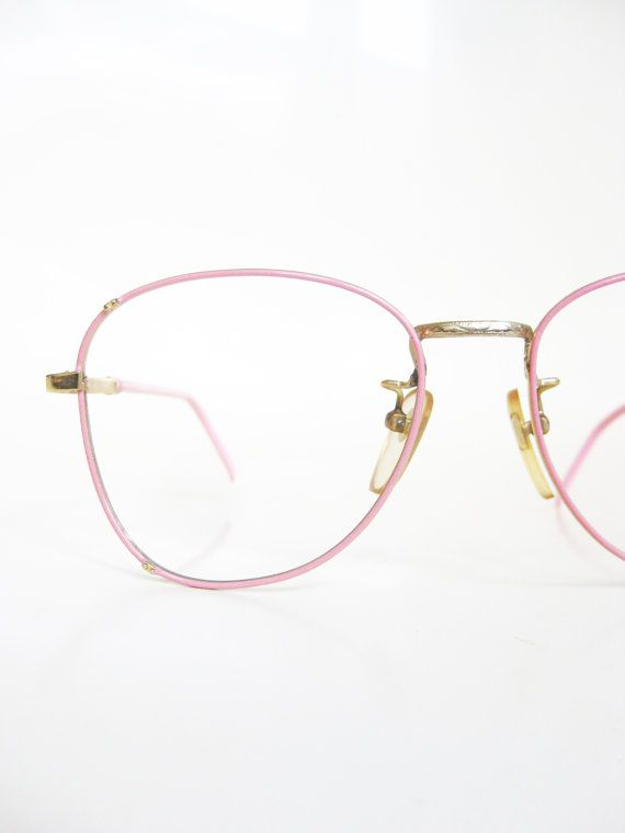 6aa8a432dea Vintage Pink Eyeglasses Cotton Candy Pastel Wire Rim 1980s Glasses Womens  Ladies Girls Deadstock Optical Frames Girly Lolita Lola Indie Chic