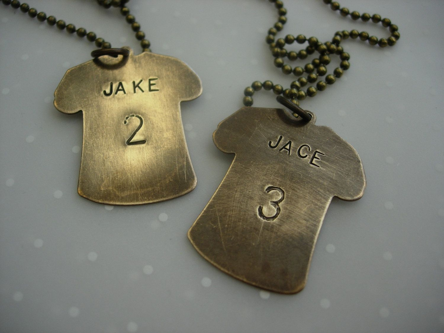 Footballsports jersey name and number hand stamped