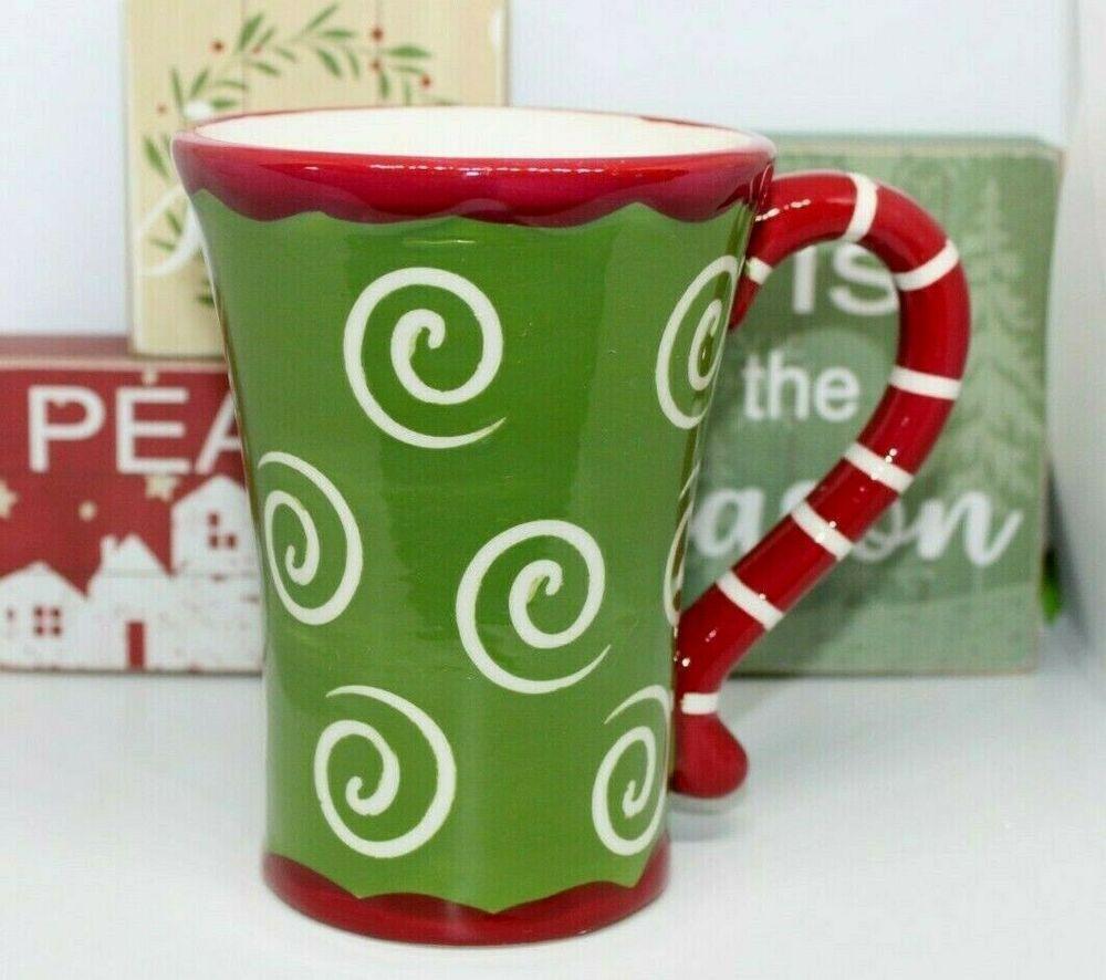California Pantry 6 Oz Coffee Mug Red Green Festive Christmas Theme Pattern Californiapantry Mugs Christmas Themes Festive Christmas